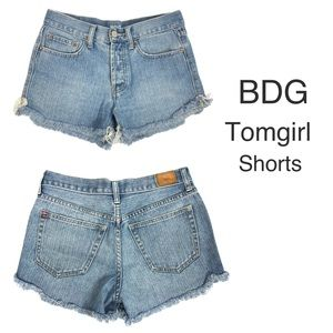 BDG Tomgirl Button Fly High Rise Shorts.